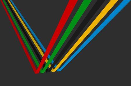de colores: Ilustración 3d, juegos Deporte fondo. Vectores