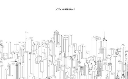 architecture: Cityscape  Sketch. Architecture - Illustration
