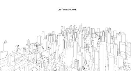 Cityscape Sketch. Architecture - Illustration