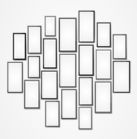 Picture frame vector. Photo art gallery Ilustrace