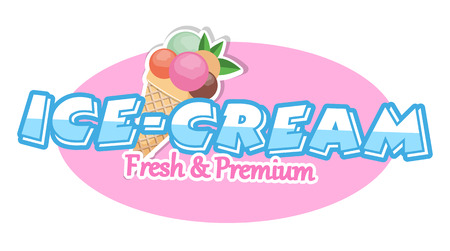 Ice cream. Design Elements.Vector Illustration