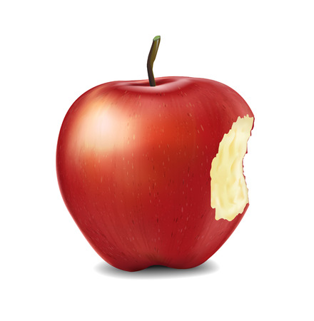 Red Apples - Vector Illustration. Realistic vector