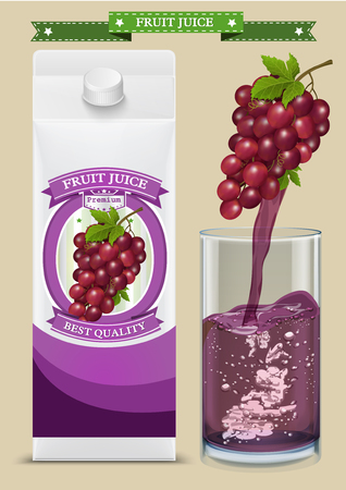 White carton boxes with Label vector visual, ideal for fruit juice. Can drawn with mesh tool. Fully adjustable & scalable. packages design