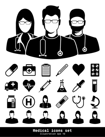 Medical icons set. Illustration eps 10