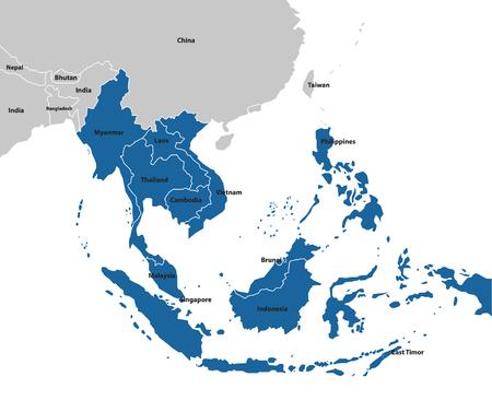 Mapa Azja Południowo-Wschodnia. Kolekcja map