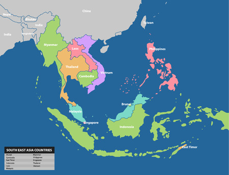 Southeast asia map. Maps Collection Stok Fotoğraf - 73929400