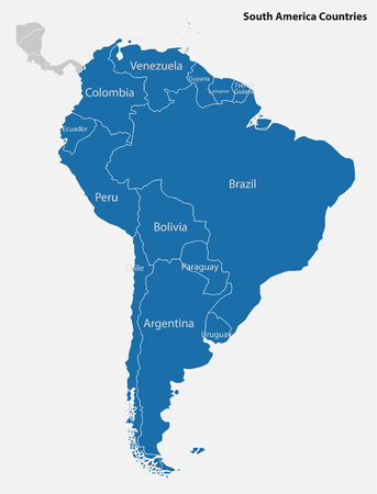 South America-highly detailed map Illustration
