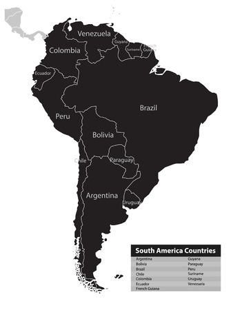 South america highly detailed map royalty free cliparts vectors south america map background vector vector sciox Choice Image