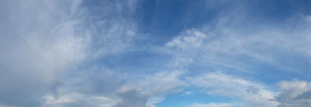 panorama of clouds.
