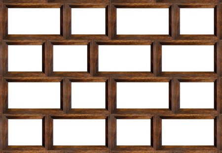 wood frame isolated on white.