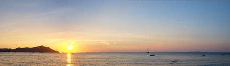Amazing sunset panorama