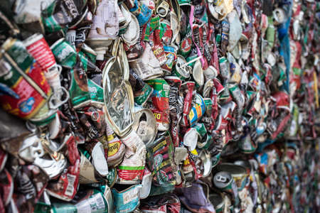 Bangkok Thailand , April 11 , 2017 : Garbage can be recycled texture background 報道画像