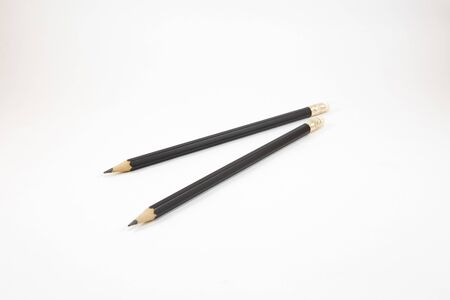 Black pencil on white background Zdjęcie Seryjne