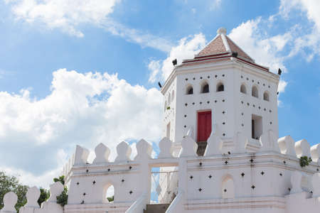 Phra Sumen Fort on the blue sky background