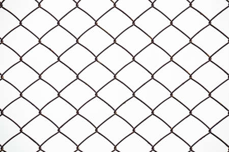 Fence grilles rust on white background