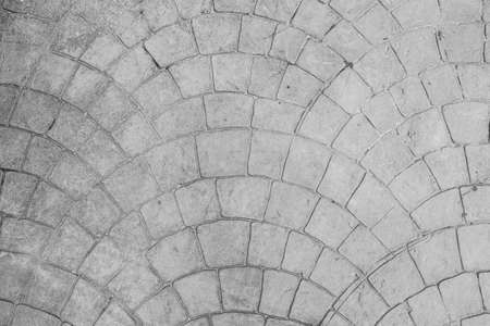 Patterns of ancient paved road block texture background