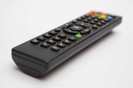 Remote TV on white background 版權商用圖片