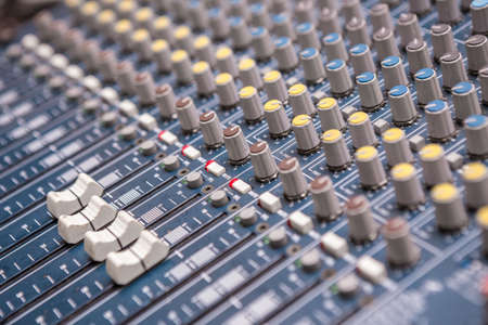 Selective focus of Mixer board texture background