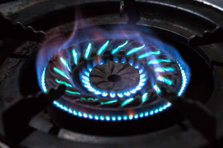 Pattern of Flame from the gas stove on black background
