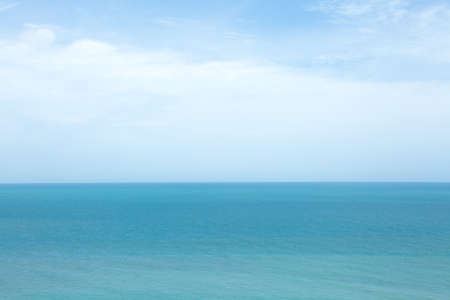 Landscape of beautiful Sea and blue sky natural background