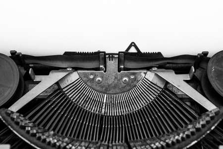 Black and white of Vintage typewriter and copy space Foto de archivo