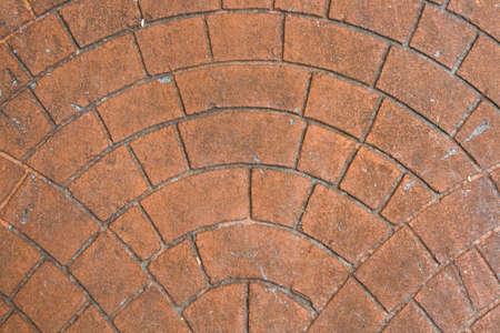 Close up Pattern of Vintage stone paved road blocks texture background 免版税图像