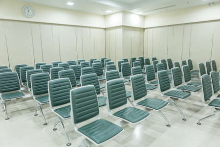 Waiting seats for patients in the hospital 免版税图像