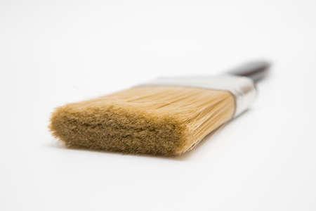 Black Paint brush on a white background