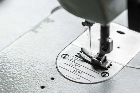Selective focus of Sewing machine and copy space