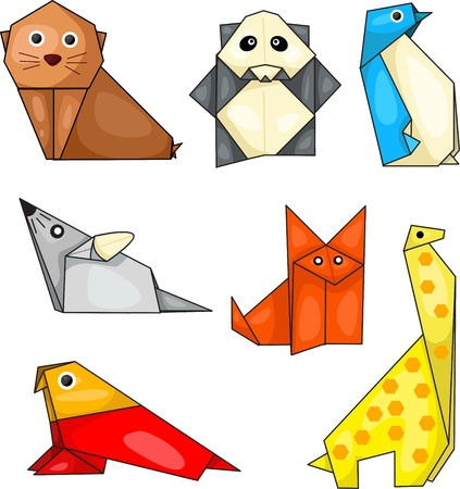Illustrator of origami animal