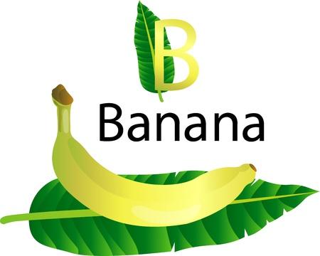 font B with banana