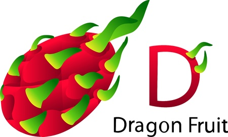 font d with dragonfruit Stock Photo
