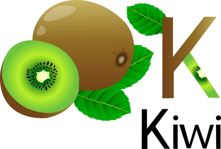 font with kiwi Stock Photo