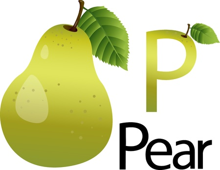 font p with pear photo