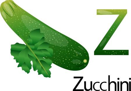 font z with zucchini Stock Photo