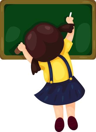 školačka: bord Gile Ilustrace