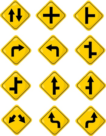 Traffic Signs Stock Vector - 20860795