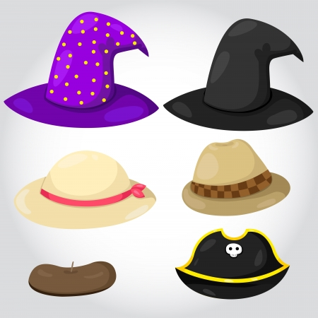 Illustrator of hats with party Illustration