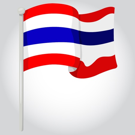 Illustrator of flag with thailand Stock Vector - 21071000