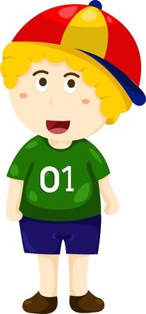 Illustrator of boy and hat Illustration