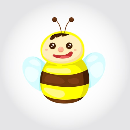Illustrator of bee Vector