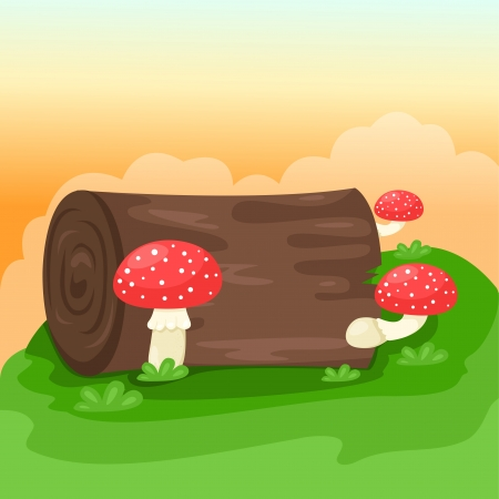 Illustrator of mushrooms background Vector