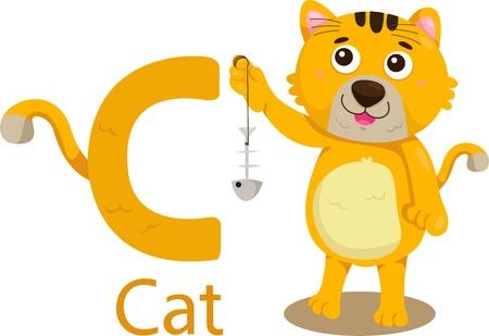 Illustrator of C with cat