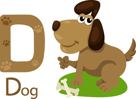 Illustrator of D with dog Vector