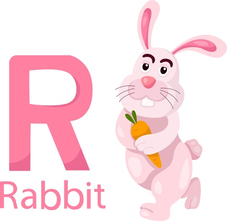 all caps: Illustrator of R with rabbit