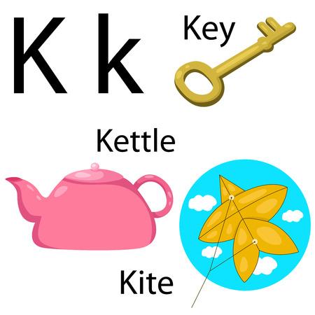 Illustrator of K alphabet Vector