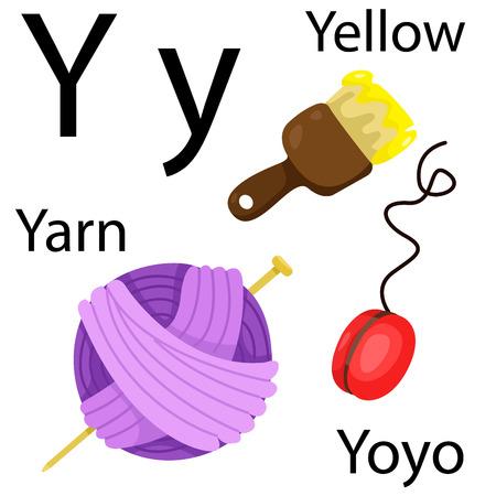 yo: Y alphabet Illustration