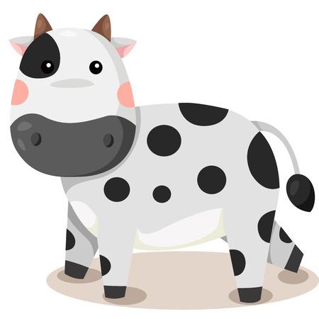 Illustrator of goat cow vector