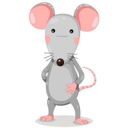 rata caricatura: Rata de la historieta del vector divertido