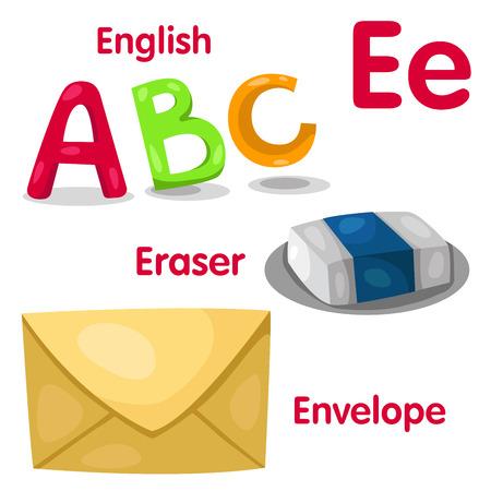 Illustrator of E alphabet Vector